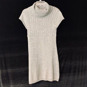 SO Cowl Neck Dark Grey Short Sleeve Sweater